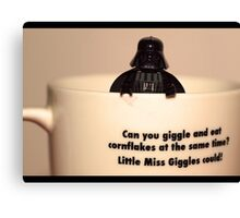 Darth Vader Cuppa Canvas Print