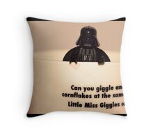 Darth Vader Cuppa Throw Pillow