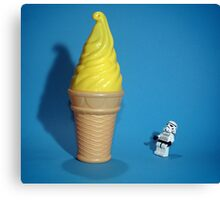Stormtrooper IceCream Canvas Print