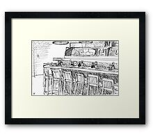 The After Hours of the Sushi Bar Framed Print