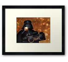 Darth Vader Karaoke Framed Print