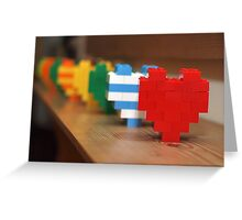 lego hearts Greeting Card