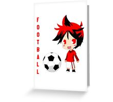 Chibi Manchester United M Greeting Card