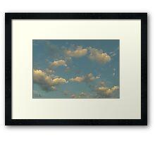 Fluffy Blue  Framed Print