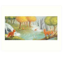 The four seasons Art Print