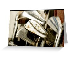 Old Golf Clubs  would have ben new once ? Greeting Card