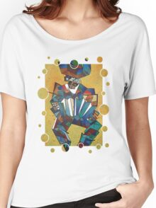 The Accordian Player Women's Relaxed Fit T-Shirt