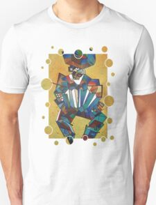 The Accordian Player Unisex T-Shirt