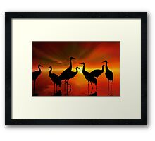Water Sunset Framed Print