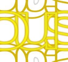 House Mirror Yellow Sticker