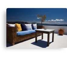 balcony exterior and sea panorama view Canvas Print