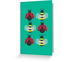 Ladybugs and bees Greeting Card