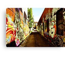 Graffiti Alley Canvas Print
