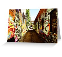 Graffiti Alley Greeting Card