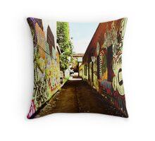 Graffiti Alley Throw Pillow