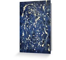 in the blue Greeting Card