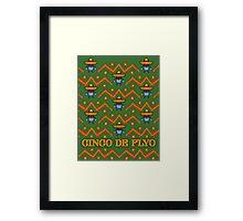 Cinco De Flyo Christmas Sweater Design Framed Print