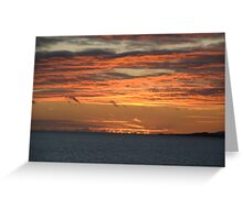 Dunmanus Bay Sunrise Sunset in Ireland Greeting Card