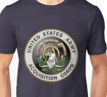 Acquisition Corps - A A C Branch Insignia over Blue Velvet Unisex T-Shirt