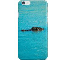 Watchful Alligator  iPhone Case/Skin