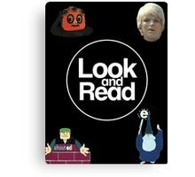 Look and Read Canvas Print