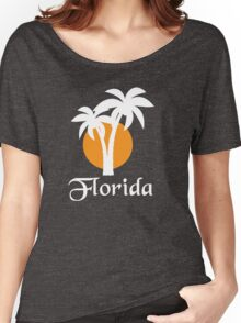Palms and orange sun Women's Relaxed Fit T-Shirt
