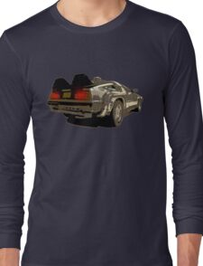 Back To The Future - Delorean Long Sleeve T-Shirt