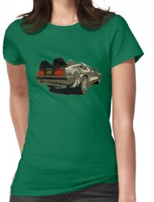 Back To The Future - Delorean Womens Fitted T-Shirt
