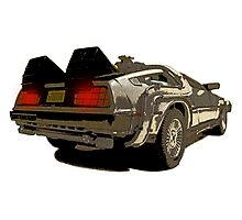 Back To The Future - Delorean Photographic Print