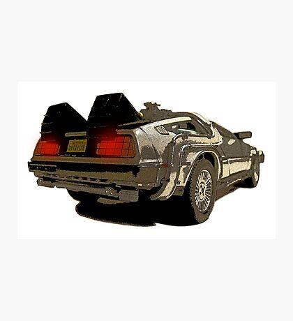 Back To The Future - Delorean Photographic Print
