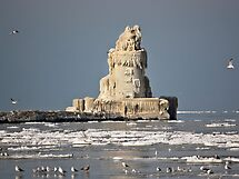 Frozen Cleveland Lighthouse by albino