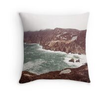 Sliabh Liag in Winter Throw Pillow