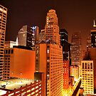 Chicago at Night by Kate Purdy