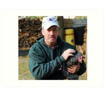 Chicken Farmer Art Print
