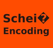 Schei� Encoding - Programmer Humor Printed in a Black Font Kids Tee