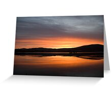 Dunmanus Bay Sunrise Sunset in Ireland 17 Greeting Card