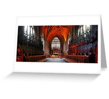 St Mary's Church, Nantwich Quire and Chancel Greeting Card