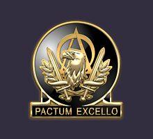 Acquisition Corps - A A C Regimental Insignia over Blue Velvet Unisex T-Shirt