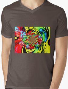 Twisted Graffiti # 8 Mens V-Neck T-Shirt