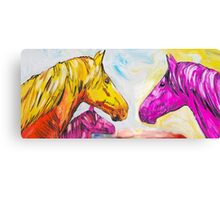 Yellow And Pink Horse  Canvas Print