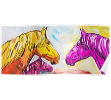 Yellow And Pink Horse  Poster
