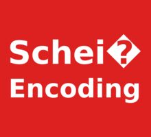 Schei� Encoding - Programmer Humor Printed in a White Font One Piece - Long Sleeve