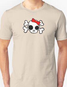 Skull & Crossbones Bow behind Unisex T-Shirt