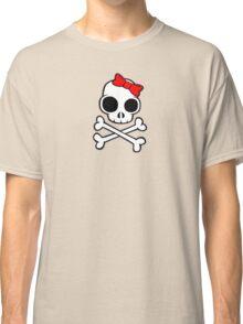 Skull & Crossbones Bow under Classic T-Shirt