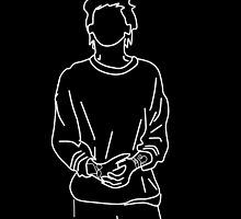 Louis Tomlinson silhouette Doodle by Itzmiri