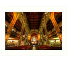 St Mary The Great - The Nave, Cambridge  Art Print