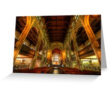 St Mary The Great - The Nave, Cambridge  Greeting Card