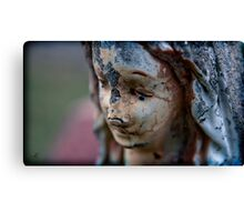 the vision of madonna decayed with time Canvas Print