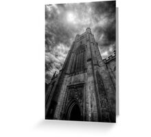 St Mary The Great Church Tower, Cambridge Greeting Card