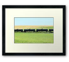 Rail Car on the Prairies Framed Print